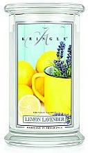 Парфюмерия и Козметика Ароматна свещ в бурканче - Kringle Candle Lemon Lavender