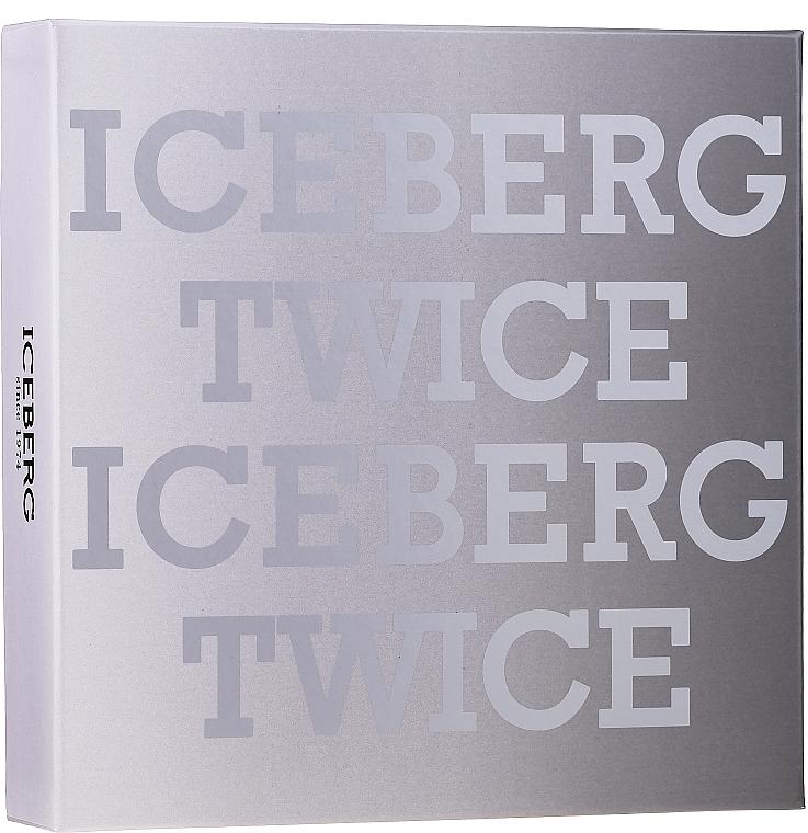 Iceberg Twice Homme - Комплект (тоал. вода/125ml + несесер)