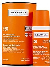 Парфюми, Парфюмерия, козметика Слънцезащитен флуид за чувствителна кожа - Bella Aurora Solar Anti-Stain Sensitive Skin SPF50+