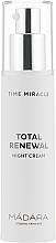 Нощен крем за лице - Madara Cosmetics Time Miracle Total Renewal — снимка N2