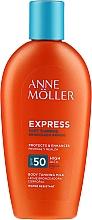 Парфюмерия и Козметика Слънцезащитно мляко за бърз тен - Anne Moller Express Sunscreen Body Milk SPF50