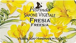 Парфюмерия и Козметика Натурален сапун с фрезия - Florinda Sapone Vegetale Freesia