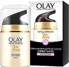 Парфюмерия и Козметика Нощен крем с укрепващ ефект - Olay Total Effects Anti-Edad Night Moisturiser