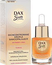 Парфюми, Парфюмерия, козметика Концетрат за автобронзант - Dax Sun Self-tanning Concentrated Drops