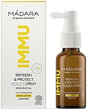 Парфюмерия и Козметика Спрей-освежител за уста - Madara Cosmetics IMMU Refresh & Protect Mouth Spray
