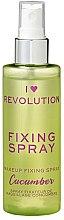 Парфюмерия и Козметика Фиксиращ спрей за грим - I Heart Revolution Fixing Spray Cucumber
