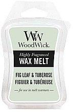 Парфюми, Парфюмерия, козметика Ароматен восък - WoodWick Wax Melt Fig Leaf & Tuberose