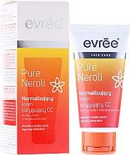 Парфюми, Парфюмерия, козметика Нормализиращ коригиращ крем за лице CC - Evree Pure Neroli Balancing CC Cream