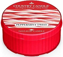 """Парфюмерия и Козметика Ароматна чаена свещ """"Лутива мента"""" - Country Candle Peppermint Twist Daylight"""