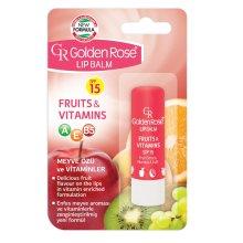 Парфюми, Парфюмерия, козметика Балсам за устни - Golden Rose Lip Balm Fruits&Vitamins SPF15