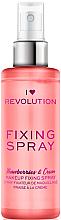 Парфюмерия и Козметика Фиксиращ спрей за грим - I Heart Revolution Fixing Spray Strawberries & Cream
