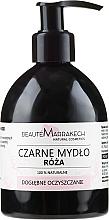 Парфюмерия и Козметика Течен черен сапун с розово масло - Beaute Marrakech Rose Black Liquid Soap