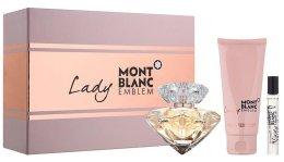 Парфюми, Парфюмерия, козметика Montblanc Lady Emblem Elixir - Комплект (парф. вода/75ml + парф. вода/mini/7.5ml + лосион за тяло/100ml)