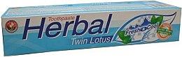 Парфюмерия и Козметика Билкова паста за зъби - Twin Lotus Fresh & Cool