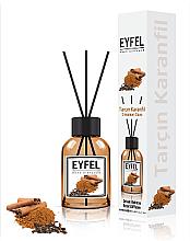 """Парфюмерия и Козметика Арома дифузер """"Канела и карамфил"""" - Eyfel Perfume Reed Diffuser Cinnamon Clove"""