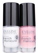 Парфюми, Парфюмерия, козметика Комплект за френски маникюр №1 - Eveline Cosmetics french manicure (Nail/2х5ml)
