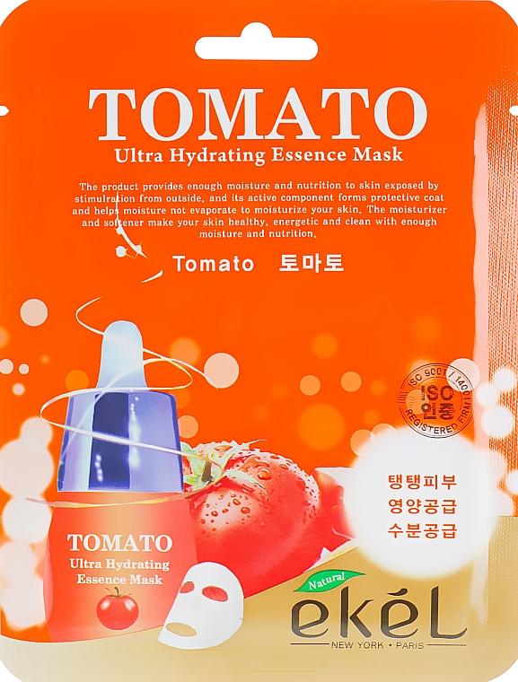 Хидратираща памучна маска за лице с екстракт от домат - Ekel Tomato Ultra Hydrating Mask