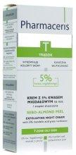 Парфюмерия и Козметика Нощен крем-пилинг с 5% бадемова киселина - Pharmaceris T Sebo-Almond-Peel Exfoliting Night Cream
