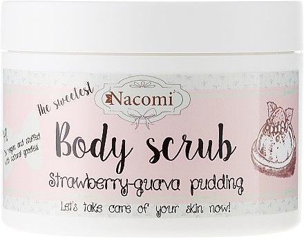 Скраб за тяло с аромат на ягода и гуава пудинг - Nacomi Body Scrub Strawberry-Guawa Pudding