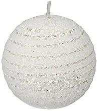 Парфюмерия и Козметика Декоративна свещ, бяла топка, 10см - Artman Andalo