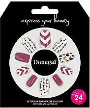 Парфюмерия и Козметика Комплект за изкуствен маникюр с лепило, 3057 - Donegal Express Your Beauty