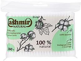 Парфюмерия и Козметика Клечки за уши, 160 бр. - Cashmir Natural Cotton Buds