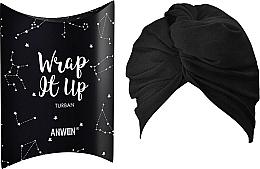 """Парфюмерия и Козметика Козметична лента за глава """"Тюрбан"""", черна - Anwen Wrap It Up Turban"""