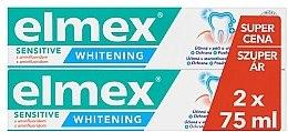Парфюмерия и Козметика Комплект пасти за зъби - Elmex Professional Sensitive Whitening Teeth (toothpaste/2x75ml)