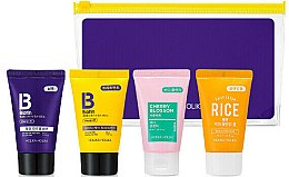 Парфюми, Парфюмерия, козметика Комплект - Holika Holika Biotin Travel Kit (shampoo/30ml+treat/30ml+b/gel/30ml+foam/30ml)