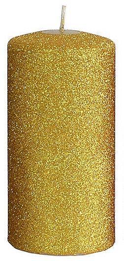 Декоративна свещ, златиста, 7x14 см - Artman Glamour — снимка N1