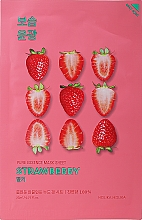 """Парфюмерия и Козметика Памучна маска за лице """"Ягода"""" - Holika Holika Pure Essence Mask Strawberry"""