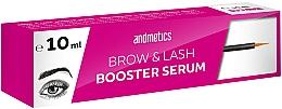 Парфюмерия и Козметика Серум за растеж на вежди и мигли - Andmetics Brow & Lash Booster Serum