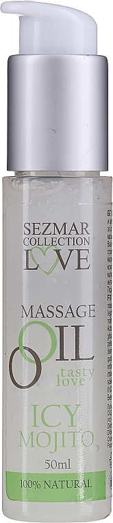 "Масажно масло ""Ледено мохито"" - Sezmar Collection Love Massage Oil Iced Mojito"