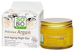 Парфюми, Парфюмерия, козметика Нощен гел за лице - So'Bio Etic Anti-Aging Night Gel