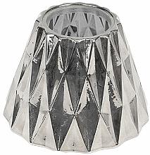 Парфюмерия и Козметика Абажур за средни свещи - WoodWick Geometric Silver Shade