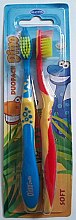 Парфюми, Парфюмерия, козметика Детски четки за зъби Rebi-Dental Dino M50, меки, 2 бр - Mattes