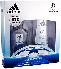 Парфюми, Парфюмерия, козметика Adidas UEFA Champions League Arena Edition - Комплект (тоал. вода/50ml + душ гел/250ml)