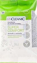 Парфюмерия и Козметика Кърпички за интимна хигиена, 20 бр - Cleanic Super Comfort Wipes