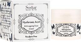 Парфюмерия и Козметика Антистареещ крем за лице с хиалуронова киселина - Sostar Hyaluronic Acid Anti-Aging Face Cream