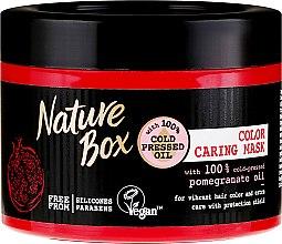 Парфюмерия и Козметика Интензивна защитна маска за боядисана коса с масло от нар - Nature Box Pomegranate Oil Maska