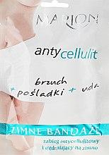 Парфюмерия и Козметика Антицелулитни охлаждащи превръзки за тяло - Marion Anti-Cellulite Cool Bandages