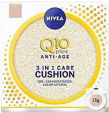 Парфюмерия и Козметика Кушон за лице - Nivea Anti-Age Q10 plus 3 In 1 Care Cushion