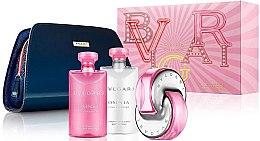 Парфюми, Парфюмерия, козметика Bvlgari Omnia Pink Sapphire - Комплект (тоал. вода/65ml + лосион за тяло/75ml + душ гел/75ml + козм. чанта)