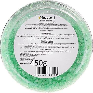 Сол от Мъртво море за вана с аромат на зелен чай - Nacomi Dead Sea Bath Salt — снимка N2