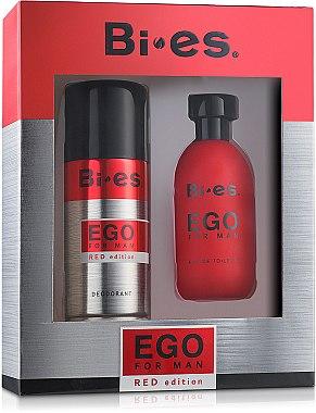 Bi-Es Ego Red Edition - Комплект (тоал.вода/100ml + дезод./150ml) — снимка N1