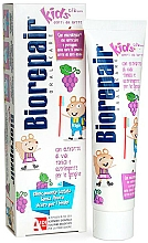 """Парфюмерия и Козметика Паста за зъби """"Весела мишка"""", грозде - Biorepair Kids Milk Teeth"""