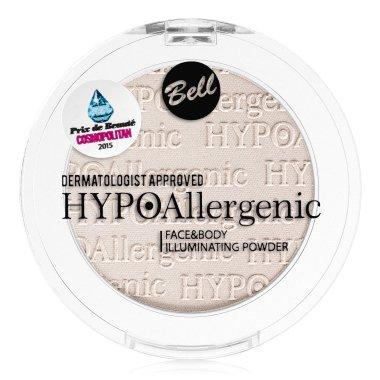 Хипоалергенна пудра хайлайтър за лице и тяло - Bell HypoAllergenic Face&Body Illuminating Powder — снимка N2