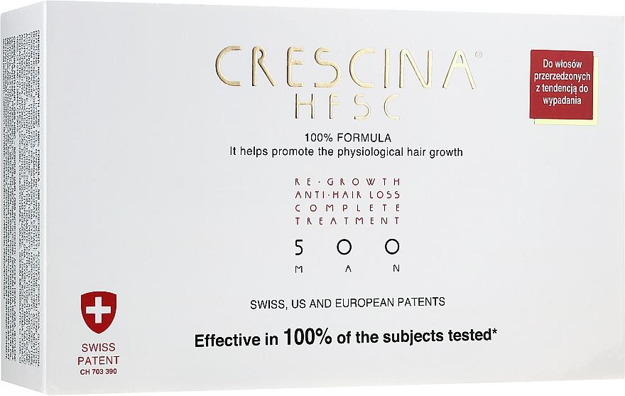 Възстановяваща терапия против косопад за мъже 500 - Crescina Re-Growth HFSC 100% + Crescina Anti-Hair Loss HSSC