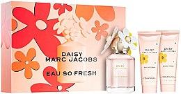 Парфюмерия и Козметика Marc Jacobs Daisy Eau So Fresh - Комплект (тоал. вода/75ml + лосион за тяло/75ml + душ гел/75ml)