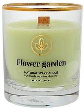 Парфюмерия и Козметика Ароматна свещ в чаша, 8х9.5см - Artman Flower Garden